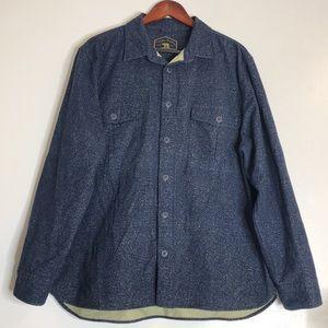 Freedom Foundry Blue Fleck Flannel Button Shirt XL